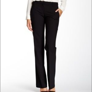 Theory Emery Black Tailored Wool Blend Pants